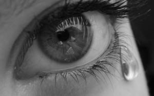 sad eye with tear