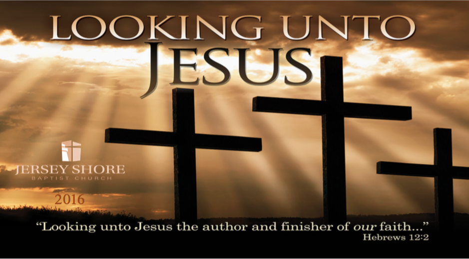 2016 Theme Looking Unto Jesus with logo and date