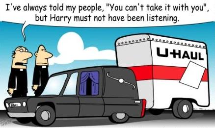 U-haul behind hearse